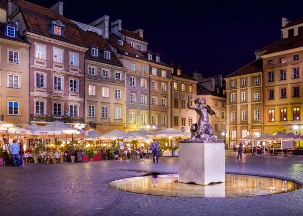 Stare miasto Warszawa fotografia świąteczna