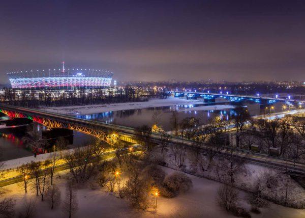 Fotografia stadionu narodowego Warszawa