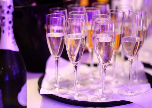 Fotografia Kieliszków z szampanem