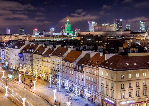 Zdjęcie Warszawy z lotu ptaka