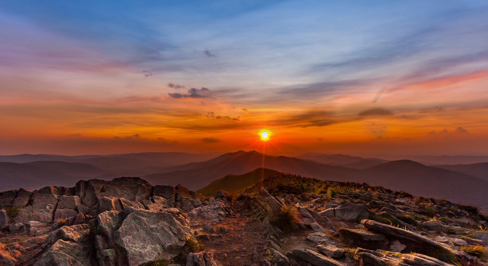 Zdjęcia gór wykonane z powietrza