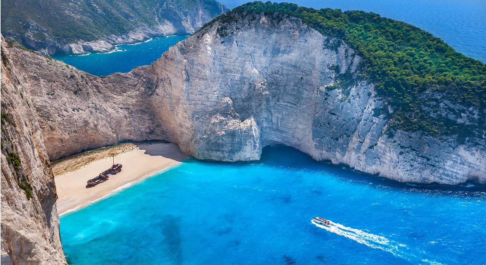 Zdjęcie wyspy zrobione dronem