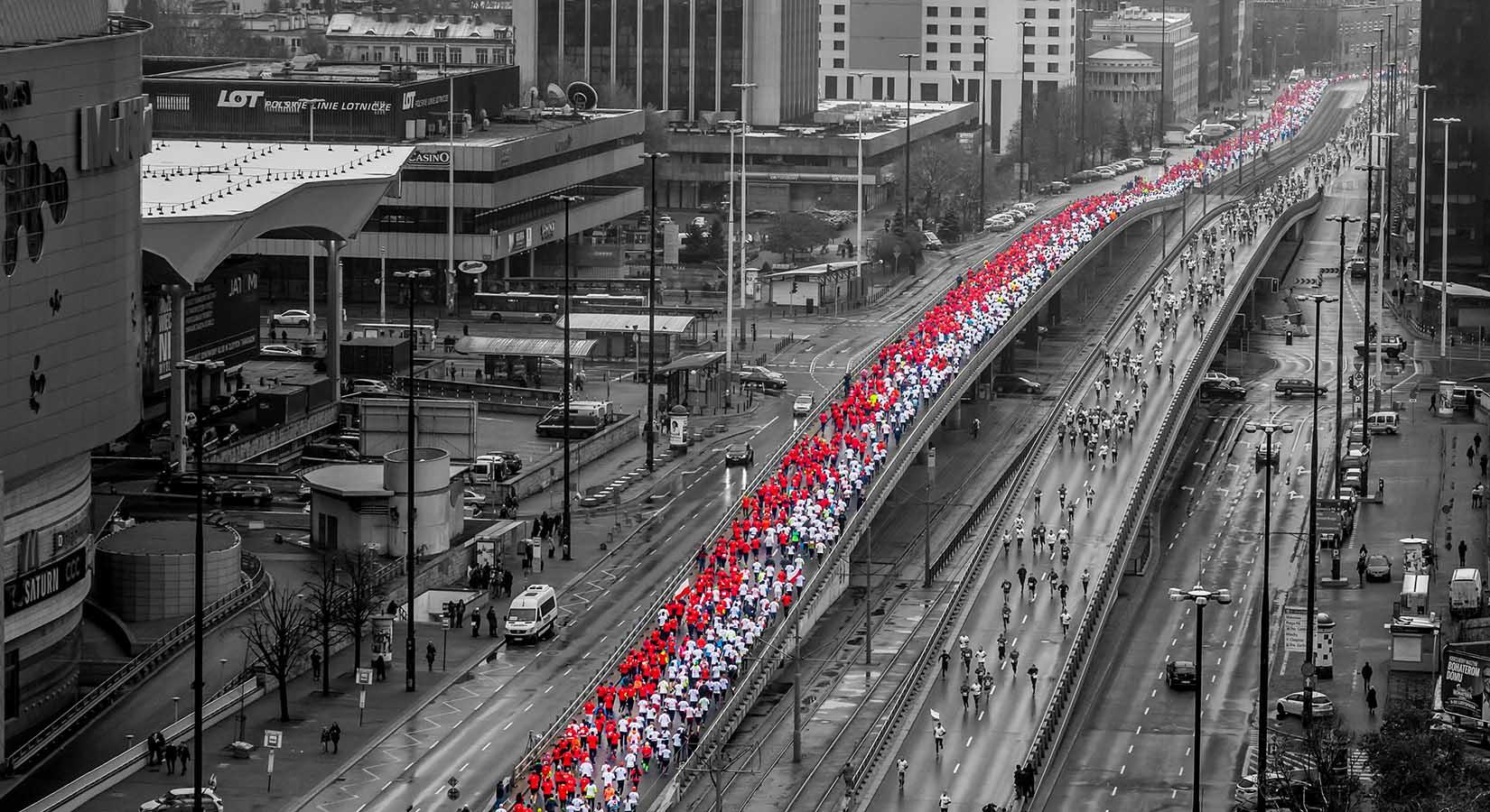 Zdjęcie z marszu biało czerwonego