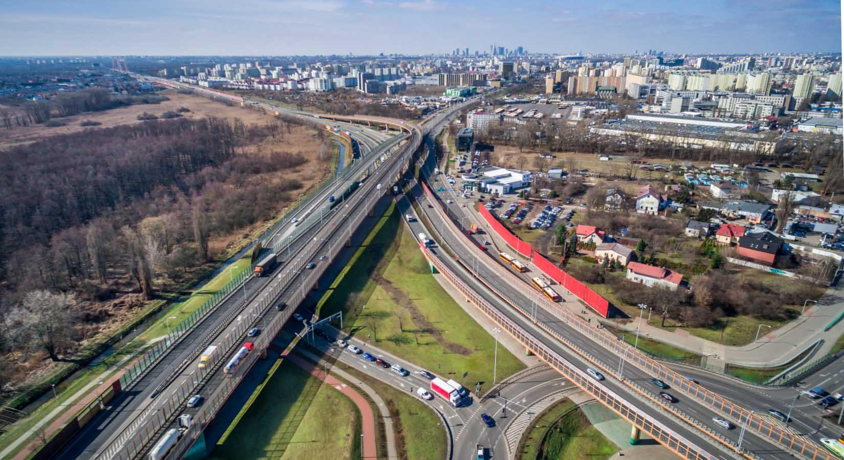 Drogi prowadzące do stolicy, zdjęcie z drona