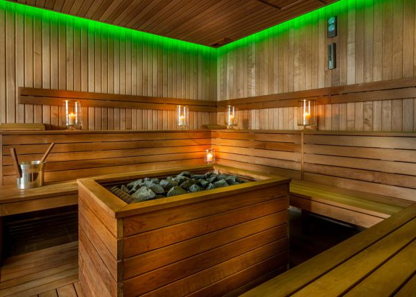 Profesjonalna Fotografia sauny od środka